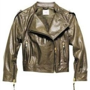 H&M leather moto
